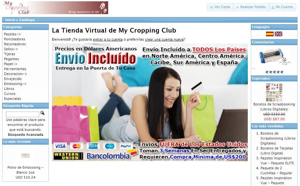 Tienda Virtual Productos Scrapbooking y Tarjeteria